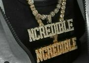 Ncredible Statement White Stone Studded Lucky Hiphop Pendant In 925 Silver