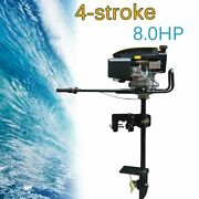 Heavy Duty 8hp 4 Stroke Outboard Motor Fishing Boat Engine W/air Cooling System