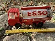 Germany Ddr Vintage Tin And Plastic Friction Toy -fuel Transport Truck Ms-25