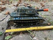 Vintage Rare Japan Modern Toys Battery Operated Tin Toy Military Tank M-71