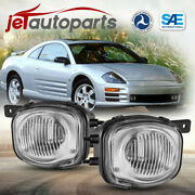 For 00-02 Mitsubishi Eclipse Fog Lights Clear Lens Replacement Bumper Lamps Pair