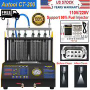 Ct200 Ultrasonic Fuel Injector Cleaner Tester For Car Motorcycle 6-cylinder Usa