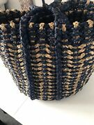 Elements Blue Woven Seagrass Baskets 16-inch And 14-inch Set Of 2 H93