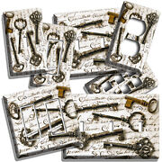 Old Rustic Vintage Keys Letter Light Switch Outlet Wall Plates Rustic Room Decor