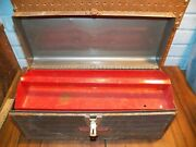 Vintage Craftsman Metal Tool Box Chest W Removable Tray