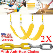 2x Heavy Duty Swing Seat Set Accessories Replacement Swings Slides Gyms Outdoor
