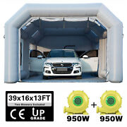 39x16x13ft Inflatable Spray Booth Paint Tent Mobile Portable Car Workstation Aaa