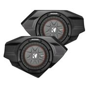 Ssv Works Driver And Passenger Sub Enclosures W Kicker Comp Rt Dual 8 Subwoofers