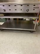 Us Range 4 Ft Griddle  With Stainless Steel Stand With Casters