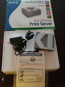 D-link Dp-301u Wired 10/100 Fast Ethernet Usb Print Server W/ Power Supply
