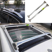 Fit For 2015-2020 Jeep Renegade Aluminum Silver Top Roof Cargo Rack Cross Bars