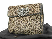 Chrome Hearts Harako Sv925 Leopard Leopard Pattern Butterfly Clutch Bag Silv...