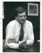 1990 Press Photo Larry Martin, New Vice Pres For Continental Airlines, Cleveland