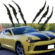 2x Black Headlight Claws Scratch Decal Universal For Chevrolet Camaro Dodge