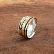 Sterling Silver Spinner Ring Fidget Ring Anxiety Ring Ring Size 7 Us