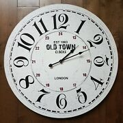 Est 1863 Old Town Clocks London, 23 3/8 Inches Large Décor Wall Clock