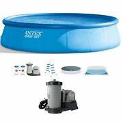 """Intex 18' X 48"""" Above Ground Swimming Pool And 2500 Gph Cartridge Filter Pump"""