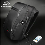 Kingsons 1517 Laptop Backpack External Usb Charge Computer Backpacks Anti-thef
