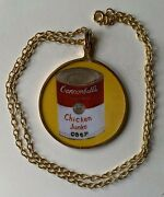 Vintage And Rare Wacky Packages Cannonball's Chicken Junko 2 Pendant Necklace
