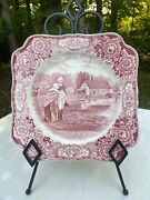 Vintage Crown Ducal George Washington And Mom Bicentenary Memorial Plate 1732-1932