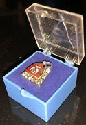 Shriner's Red Enameled Fez Lapel Pin W Crystals Freemason Collectible Fr68