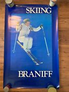 Rare Braniff 'skiing' Poster - Airline, Vintage, Travel