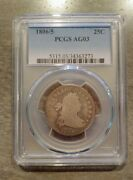 1806/5 Draped Bust Quarter Pcgs Ag03 - Affordable Rare Coin Undergraded.- C139