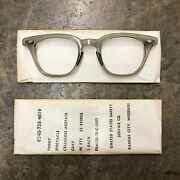 Nos Uss / Us Army Safety Glasses 48 X 20 Front Frame Only No Temples 1970 L-11