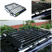 For Jeep Cherokee 2014-2020 Black Steel Top Roof Rack Luggage Carrier Rail 1pcs