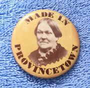 Vintage Made In Provincetown Mrs Grundyandrsquos Pinback Button 1 11/16andrdquo Massachusetts