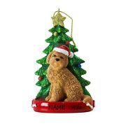 Personalized Dog Ornament - Cute Golden Doodle Personalized Christmas Ornament