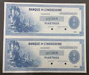 French Indo China Specimen Banknote Pair P 78s