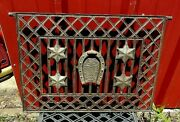 Victorian Horse Shoe And Star Window Guard Grate. Horse Grate Man, Co, Easton Pa.