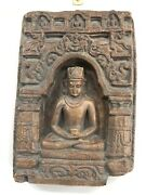 """Rare Wall Plaque Of Buddha, Pottery,15"""" By10 1/2"""", 2 1/2"""" Thick"""