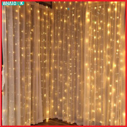 Led Curtain Lights Fairy Garland String Light Icicle Christmas Indoor Outdoor