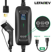 Level 2 Ev Charger Electric Car Charging Cable 6-16a Evse 6-20 With 5-15 Adapter