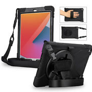 Ipad 8th/7th 10.2 2020/2019 Case Drop Proof Armor Rotating Stand Shoulder Strap