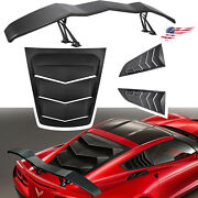 Rear And Side Window Louvers And Trunk Wing Spoiler For C7 Corvette Z06 Z51 14-19