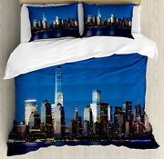 Nyc Housse De Couette Freedom Tower Manhattan Skyline