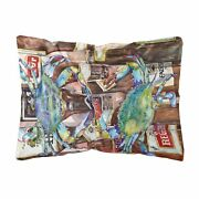 Carolineand039s Treasures 8918pw1216 Blue Crabby New Orleans Beer Bottles Canvas F...