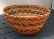 A Classic Native American California Central Valley Mono Cooking Basket 13 3/4d