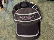 Harley Davidson Motorcycles Mens Ball Cap Black Fitted Hat Estimated Size S/m