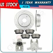 Rear Brake Rotors Calipers With Ceramic Pads For 1999 2000 2001-2003 Acura Tl