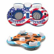 Intex American Flag 2 Person Tube W/ Cooler And Bestway Rapid Rider 4 Person Raft
