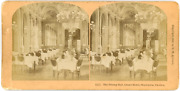Stereo Sweden Stockholm The Dining Hall Grand Hotel Vintage Stereo Card -