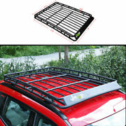 For 2017-2020 Jeep Compass Black Steel Roof Rail Luggage Rack Luggage Carrier