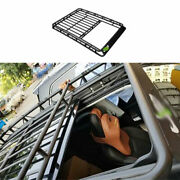 For Jeep 2017-2020 Compass Black Steel Roof Rail Luggage Rack Luggage Carrier