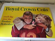 1950and039s Vintage Rc Royal Crown Cola Store Sign Youand039ll Flip Refresher Football .