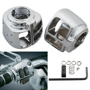 2x Chrome Switch Housing Cover Case Kit For Harley Dyna Softail Road King Xl Xr