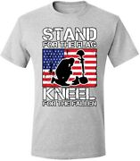 Menand039s T Shirt Men Women Stand For The Flag Kneel For The Fallen Graphic Retro